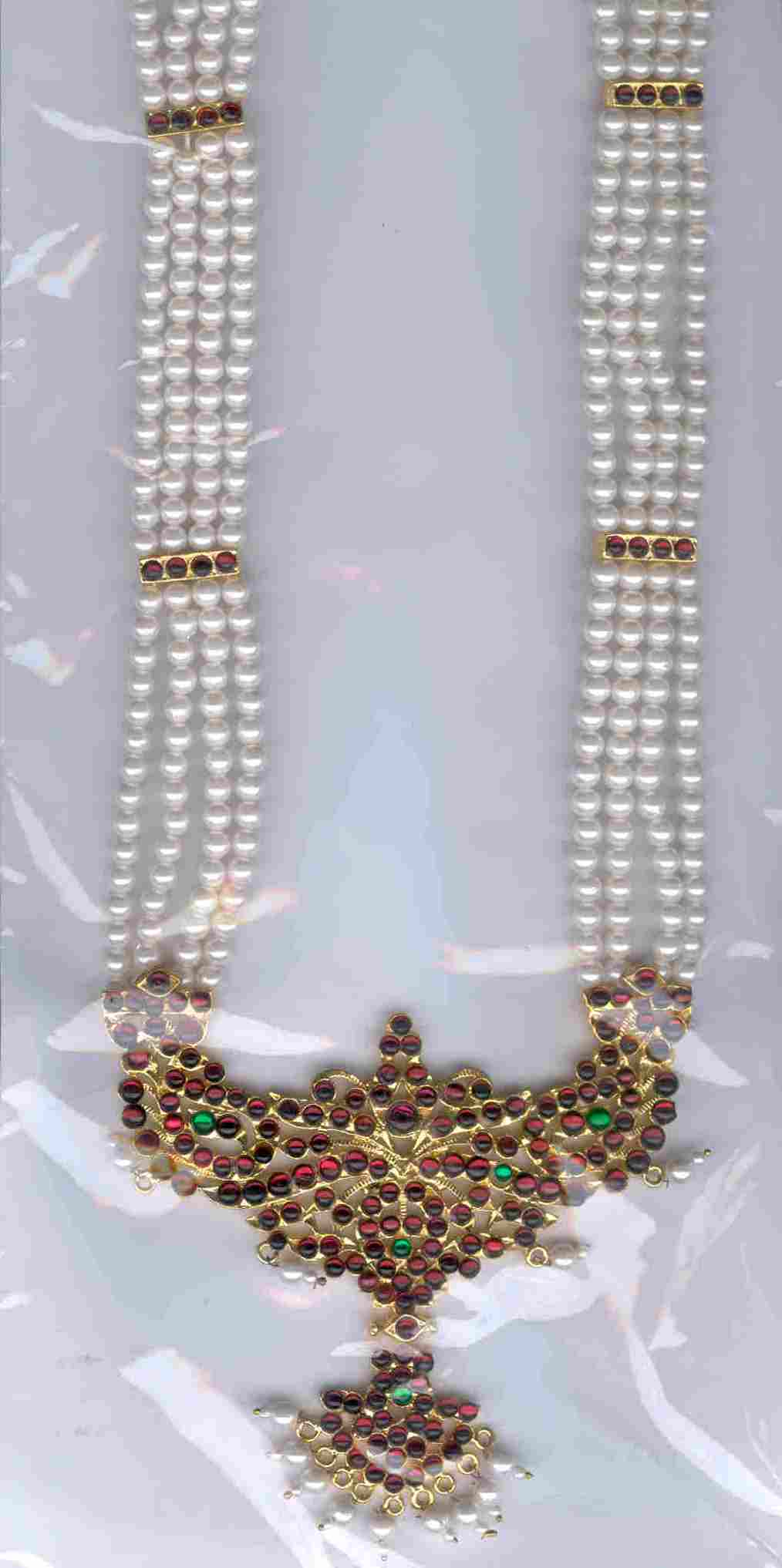 Long Pearl Necklace -Original Temple