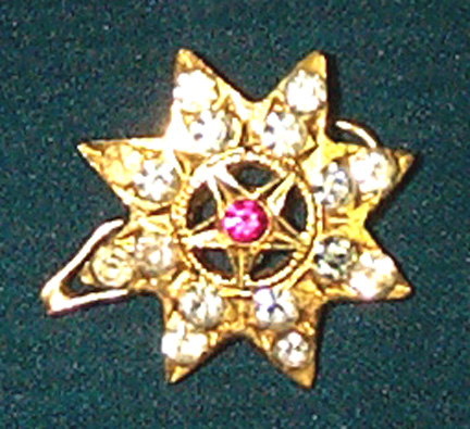 Head Billai - Star with White & Red Stones